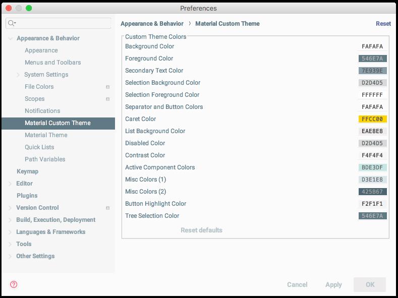 Material Theme UI Documentation - Custom Themes